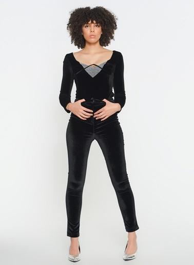 Zeynep Ökmen Kadife Cigaret Pantalon Siyah